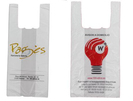 Bolsas para tiendas camiseta personalizadas