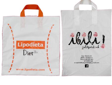Bolsas para tiendas con asa lazo personalizadas